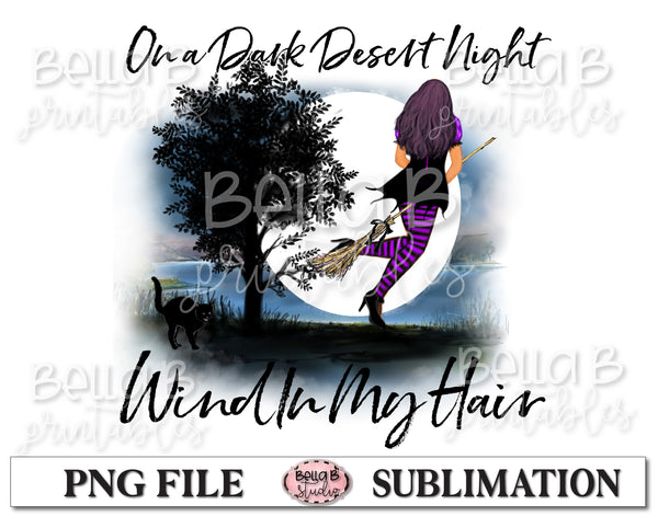 On A Dark Desert Night Sublimation Design, Halloween
