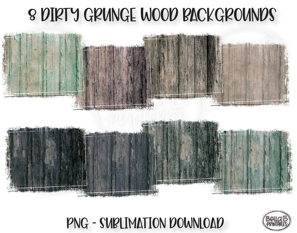 Distressed Wood Sublimation Background Bundle, Backsplash
