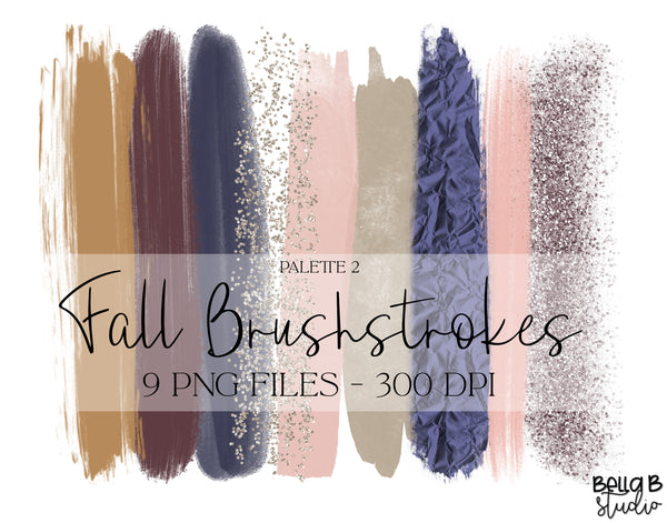 Fall Brush Strokes Clip Art, Autumn Brush Strokes Clip Art