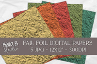 Fall Foil Digital Papers