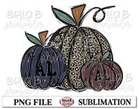 Alabama Fall Pumpkins Sublimation Design