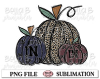 Indiana Fall Pumpkins Sublimation Design