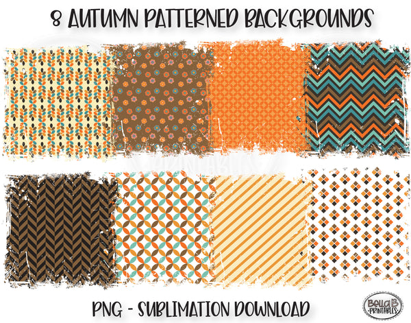 Distressed Fall Pattern Sublimation Background Bundle, Backsplash