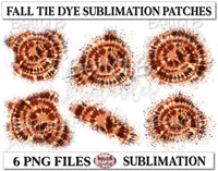 Fall Tie Dye Sublimation Patches - T Shirt Bleaching Patches