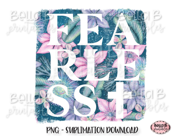 Fearless Sublimation Design, Christian Design