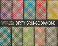 Dirty Grunge Diamond Digital Papers, Grunge Texture Paper