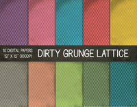 Dirty Grunge Lattice Digital Papers, Grunge Texture Paper
