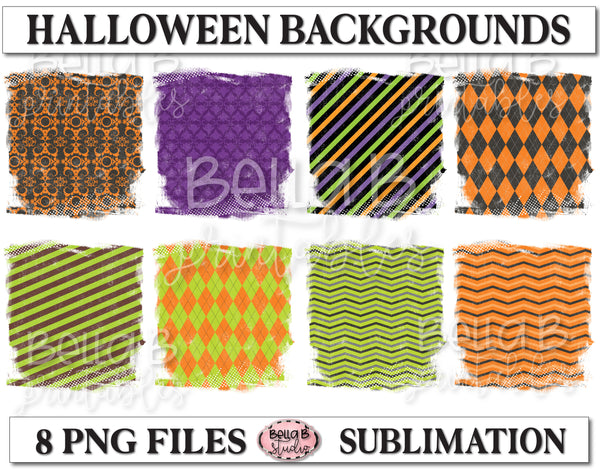 Halloween Sublimation Background Bundle, Backsplash