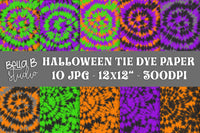 Halloween Tie Dye Digital Papers