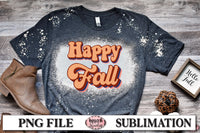 Retro Happy Fall Sublimation Design