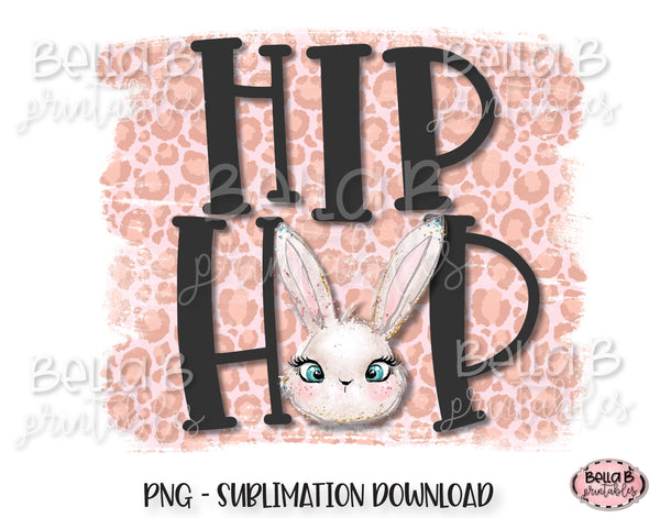 Easter Sublimation Design, Hip Hop, Bunny Ears