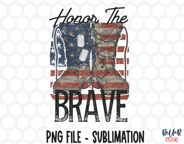 Honor The Brave Sublimation Design
