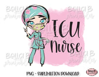 ICU Nurse Sublimation Design