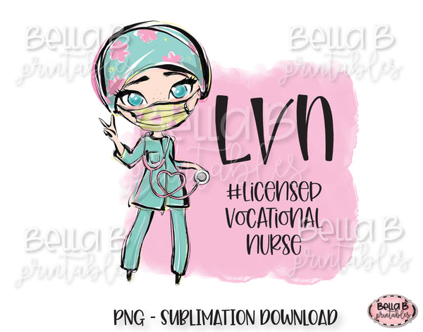 LVN Nurse Sublimation Design