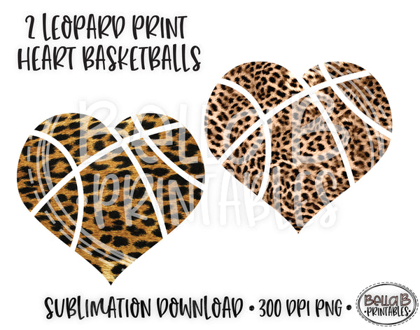 Leopard Print Basketball Sublimation Elements