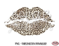 Leopard Print Lips Sublimation Design, Valentine's Day