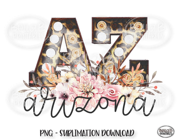 Arizona State Sublimation Design, Leopard Print Marquee