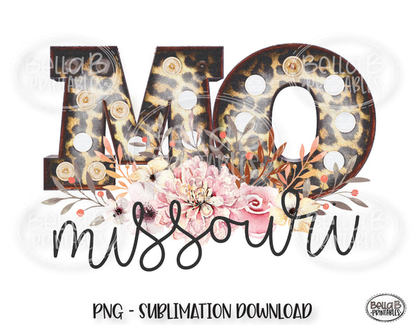 Missouri State Sublimation Design, Leopard Print Marquee