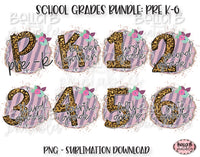 School Grade Sublimation Bundle, School Designs