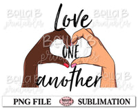 BLM Sublimation Design, Love One Another