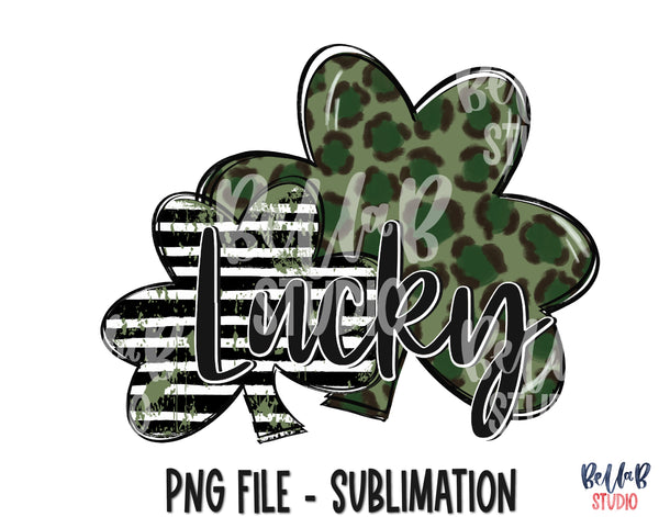Lucky Double Clover Sublimation Design