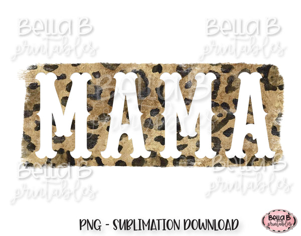 Leopard Print Mama Sublimation Design