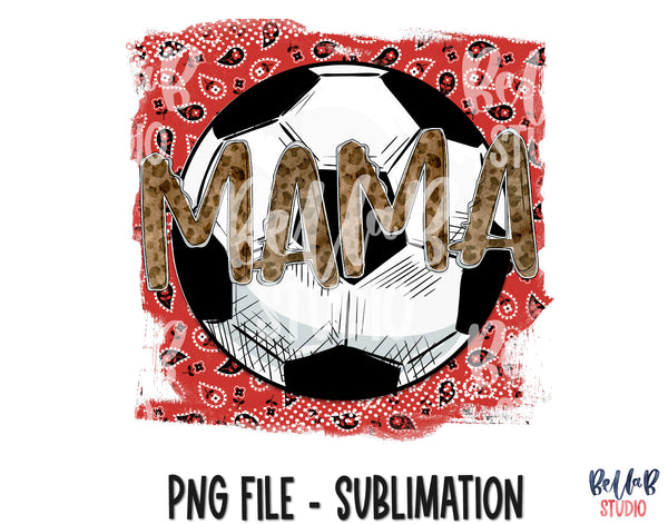 Soccer Mama Red Sublimation Design