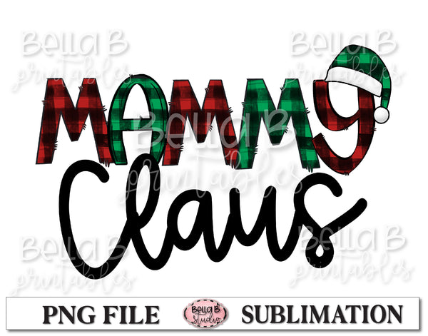 Mammy Claus Sublimation Design