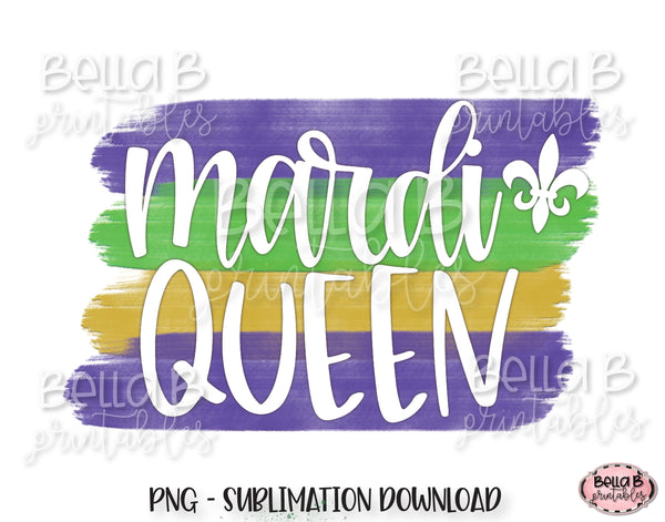 Mardi Gras Sublimation Design, Mardi Queen