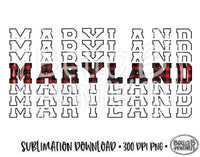 Maryland State Sublimation Design, Mirrored State Design