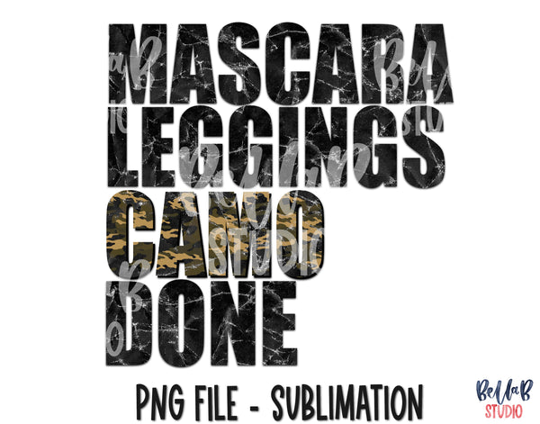 Mascara Leggings Camo Done Sublimation Design