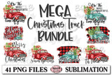 Mega Christmas Truck Sublimation Bundle