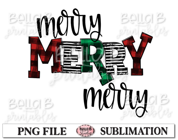Merry Merry Merry Sublimation Design