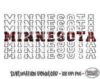 Minnesota State Sublimation Design, Mirrored State Design