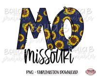 Sunflower Missouri State Sublimation Design