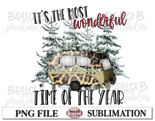 Christmas Camper Sublimation Design