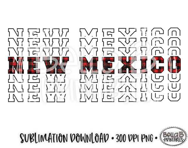 New Mexico State Sublimation Design, Mirrored State Design