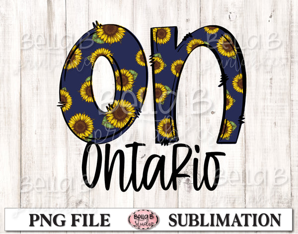 Ontario Sunflower Sublimation Design