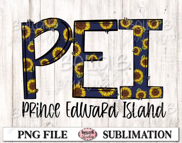Prince Edward Island Sunflower Sublimation Design