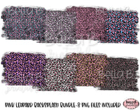 Pink Leopard Print Sublimation Background Bundle, Backsplash
