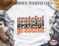 Retro Grateful Sublimation Transfer, Ready To Press