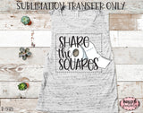 Share The Squares Sublimation Transfer, Ready To Press, Heat Press Transfer, Sublimation Print
