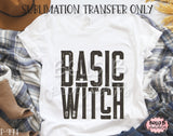 Basic Witch Sublimation Transfer, Ready To Press
