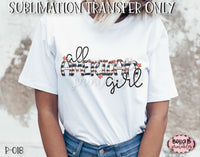 All American Girl Sublimation Transfer - Ready To Press