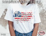 America Y'all Sublimation Transfer - Ready To Press