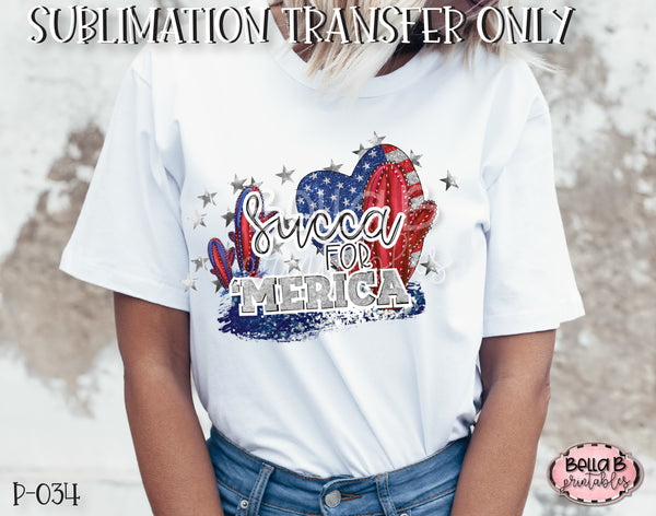 Succa For America Sublimation Transfer - Ready To Press
