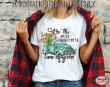 It's The Most Wonderful Time Of Year Christmas Truck Sublimation Transfer, Ready To Press