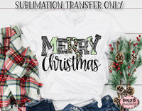 Merry Christmas Sublimation Transfer, Ready To Press
