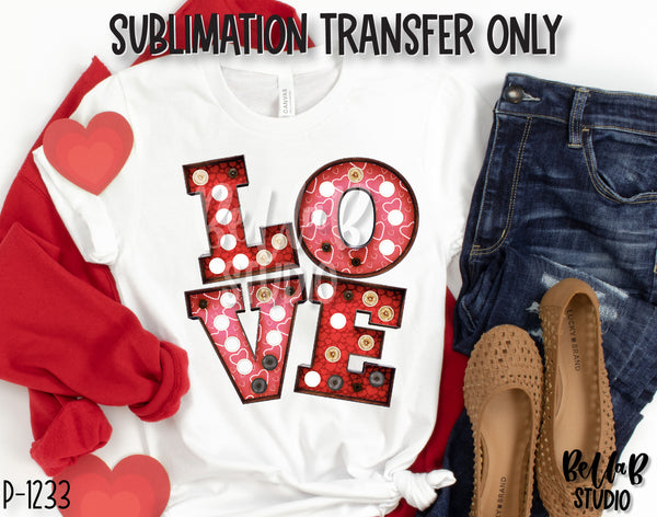 Marquee Love Sublimation Transfer, Ready To Press