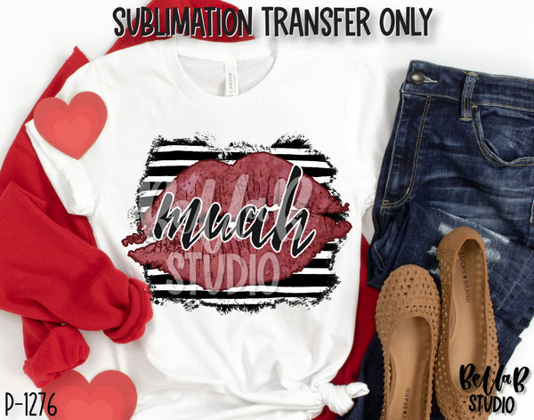 MUAH Lips Sublimation Transfer, Ready To Press